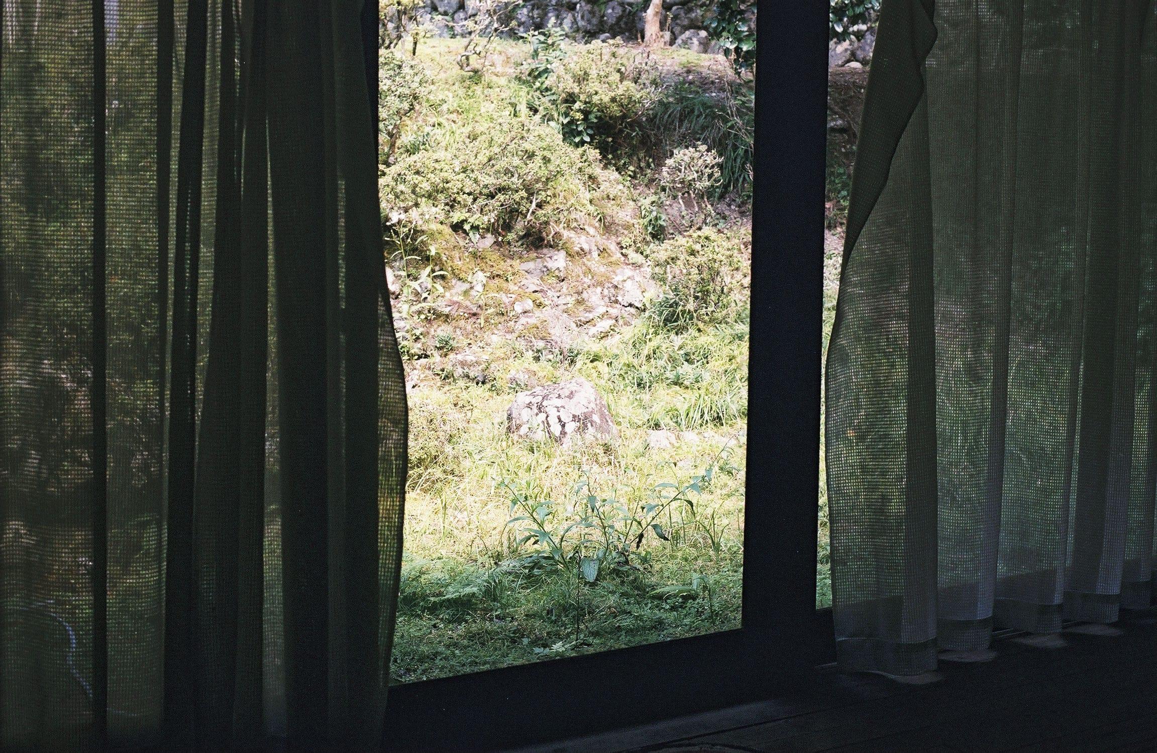 青木さんが東吉野で借りた家は、山と川に囲まれた静かな場所にひっそりと建つ平屋。思索にふけるには格好の場所。