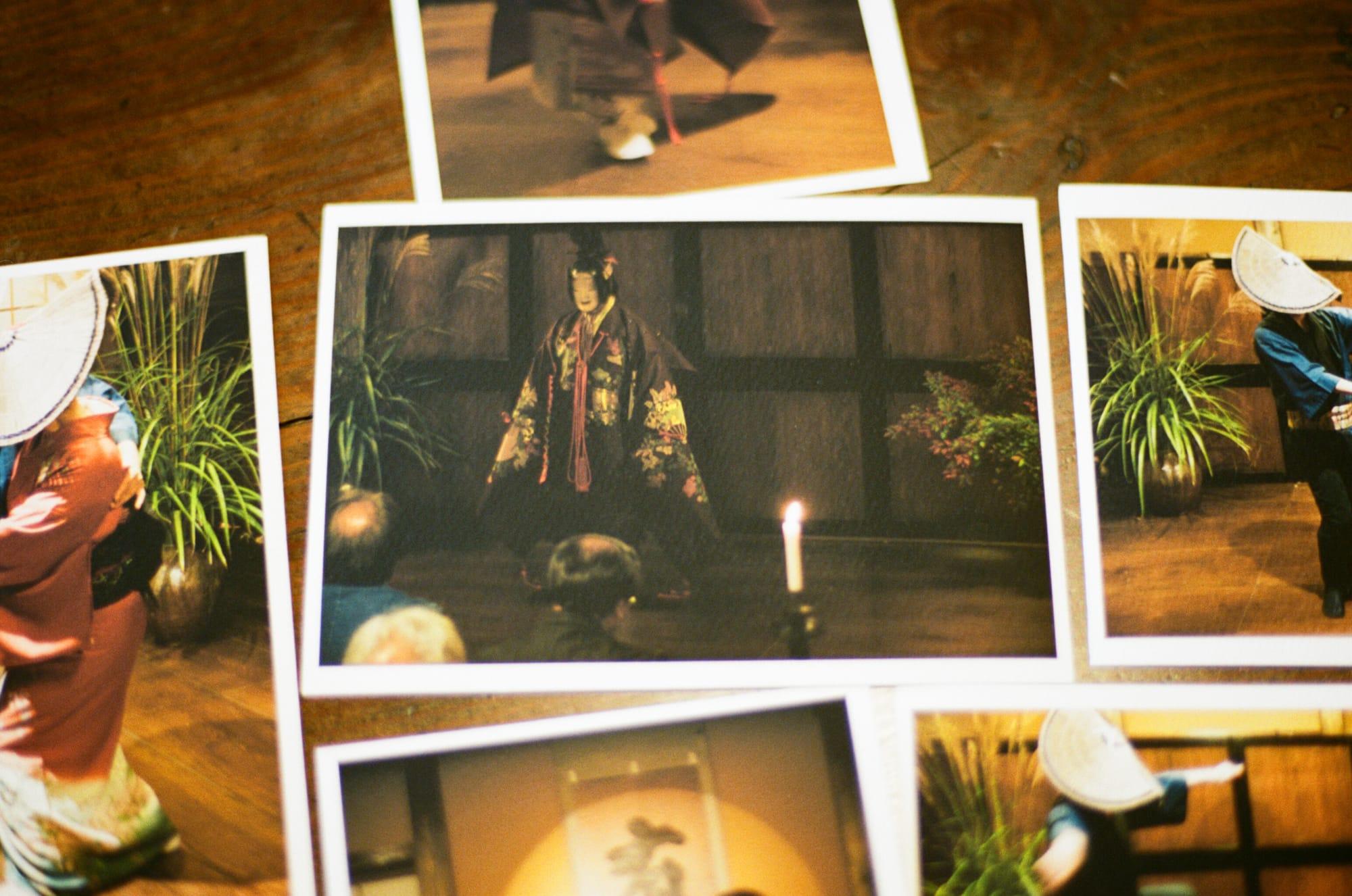 取材の前夜、古本さんの自宅では、お月見と称し、能の舞台が催されていた。