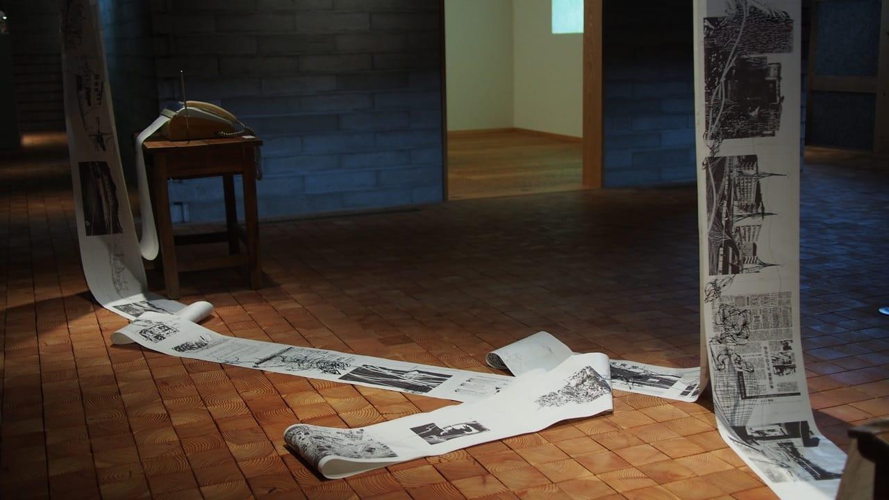 筆者の作品。ファックスと感熱紙を使い、記憶と記録の関わりを表現した。