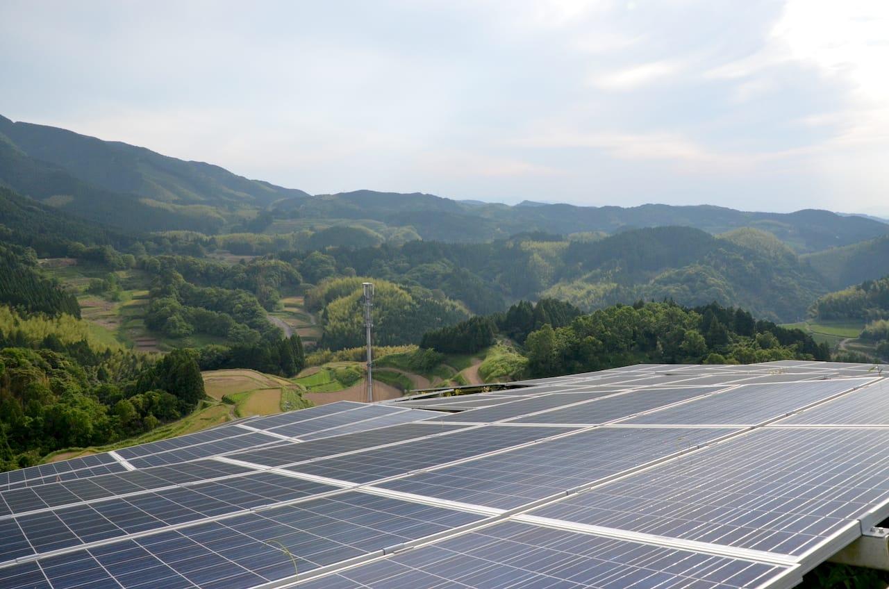 太陽光発電と集落