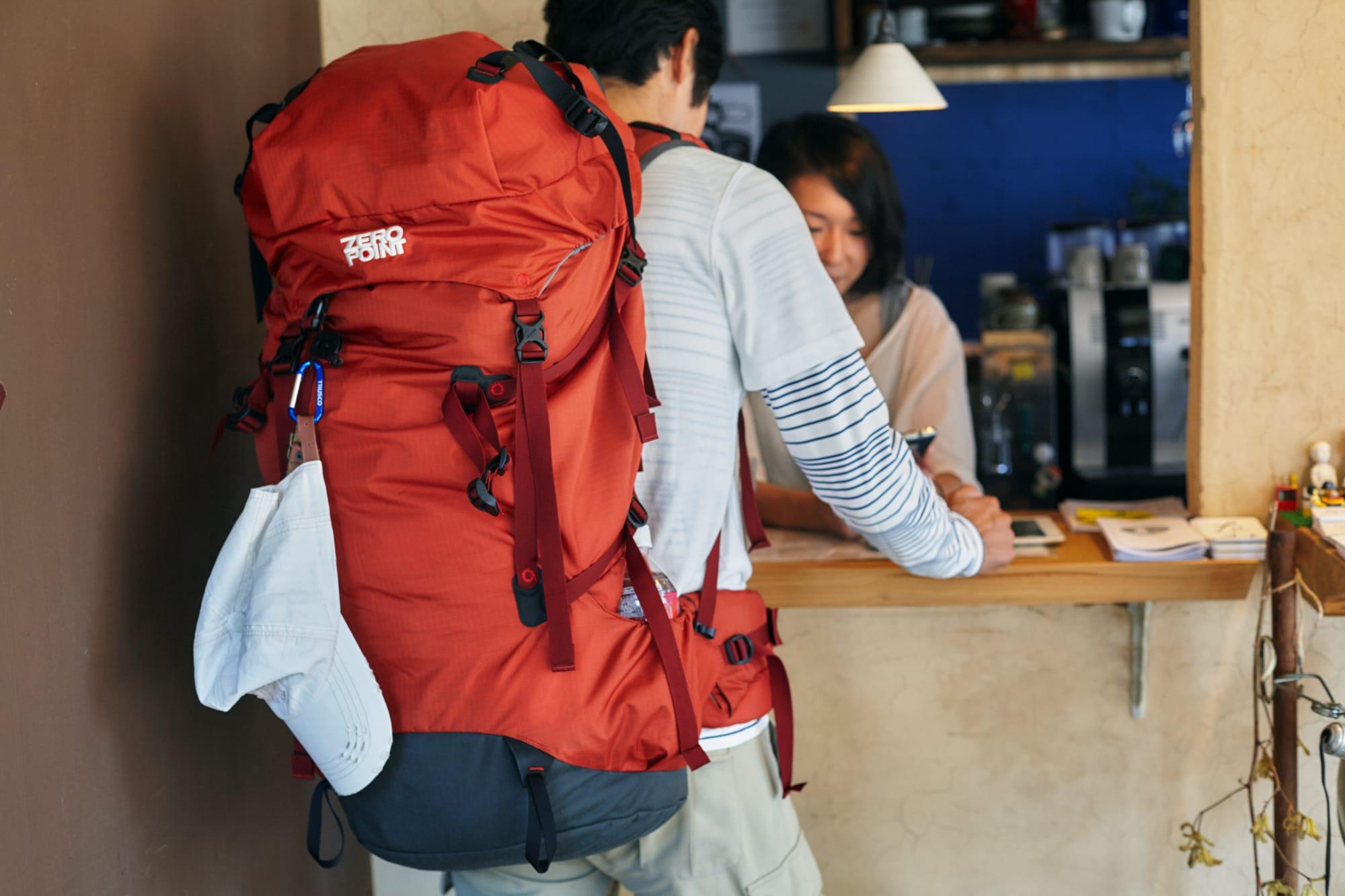 宿泊客の臼杵貴志さん。「鳥取の山と町と人が好きで、30年間神戸から通っています。老後は鳥取に住みたいですね」