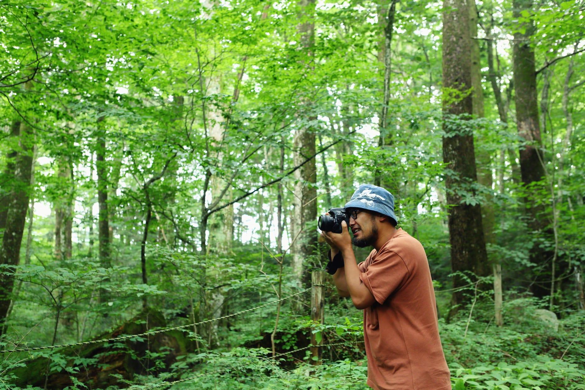 今回、丸森を旅するライターの小松さん。福島県いわき市からはじめて訪れた。