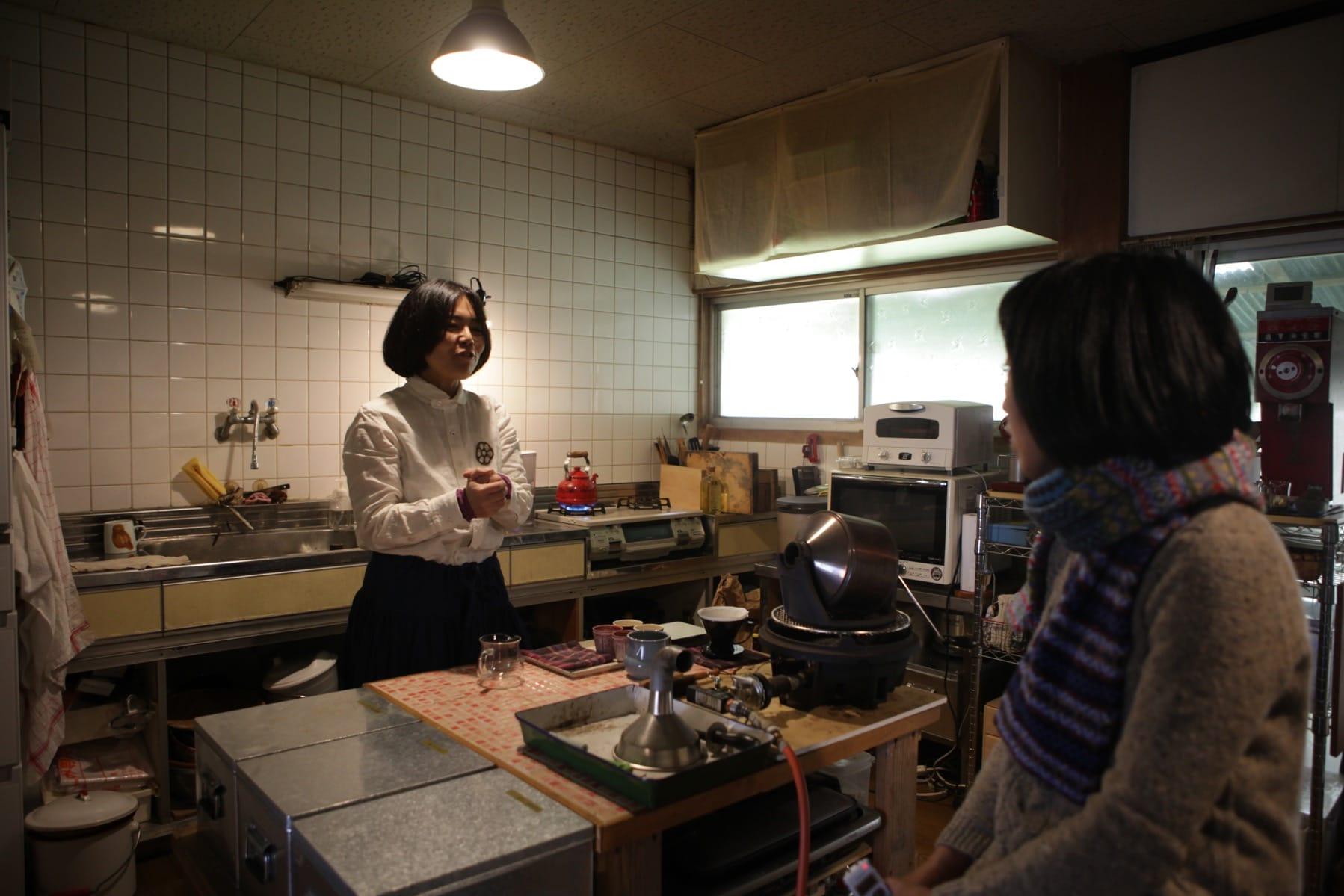 「豆ちよ」千代田孝子さんのインタビューで、ロースターを見せていただいたとき