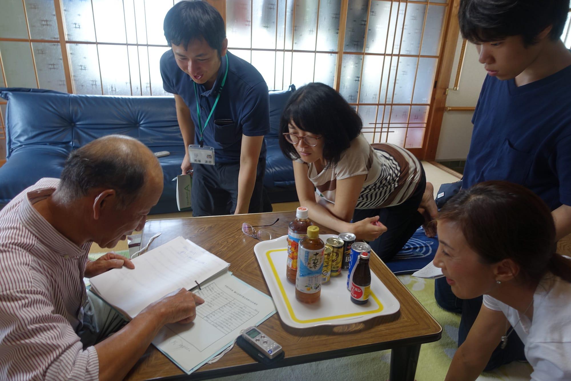 東京「芝の家」を育んできた坂倉杏介先生との共同研究では、大埜地の馬場さん宅にて神領地区の自治組織についてヒアリング(坂倉先生提供)。
