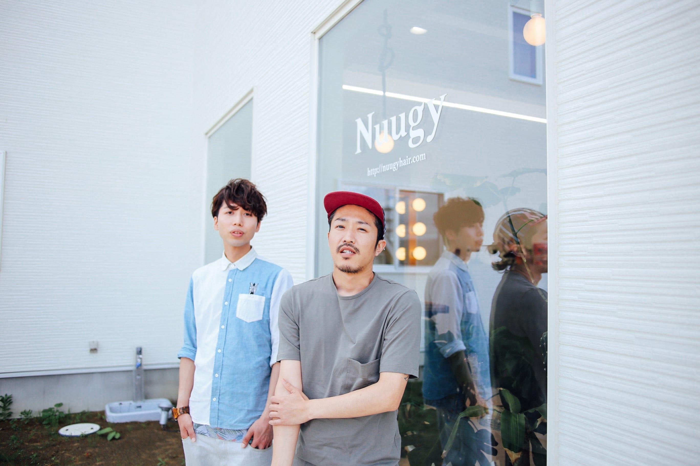 右:『Nuugy』オーナーの柏葉祥さん、左:石巻ウェディングメンバーのシマワキユウさん
