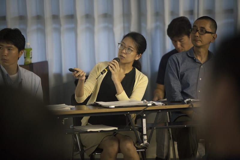 2016年9月15日「神山町職員研修」にて話す高田さん。