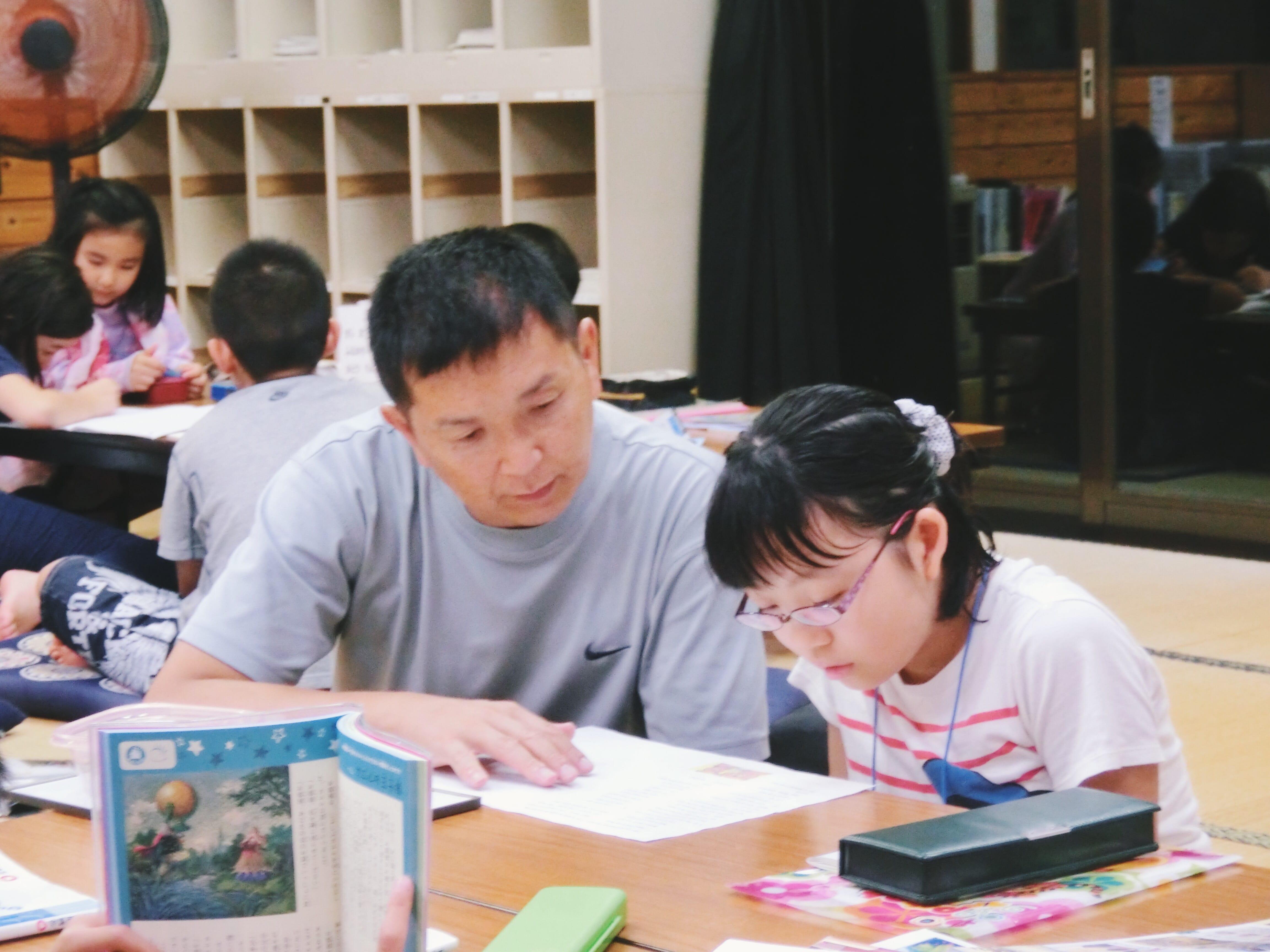 教育留学している生徒の様子。