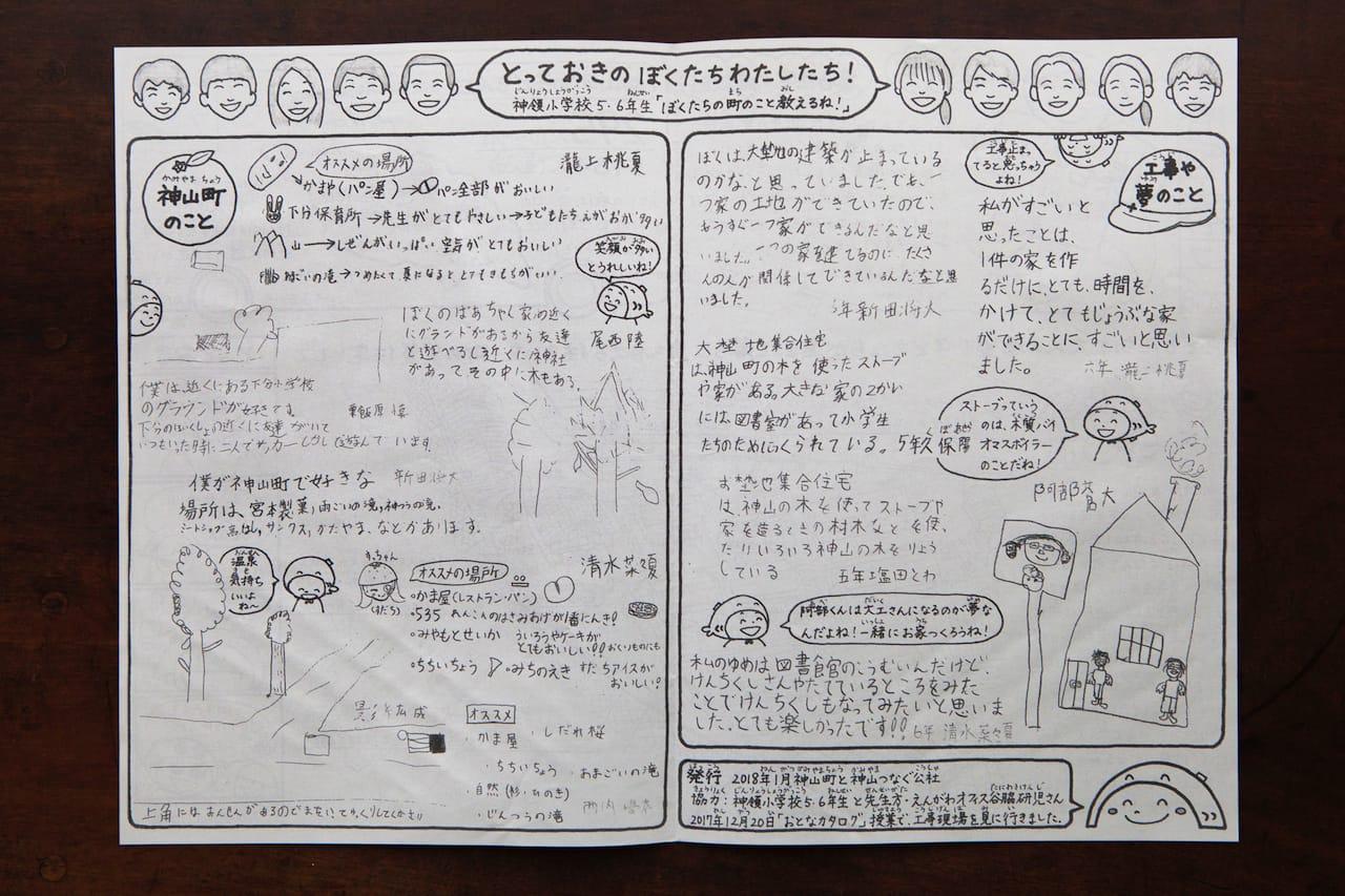 """1月号は特大号!神領小学校の子どもたちの自筆投稿も掲載して一緒に発行したので、赤尾さん自ら教室まで""""配達""""しました!"""
