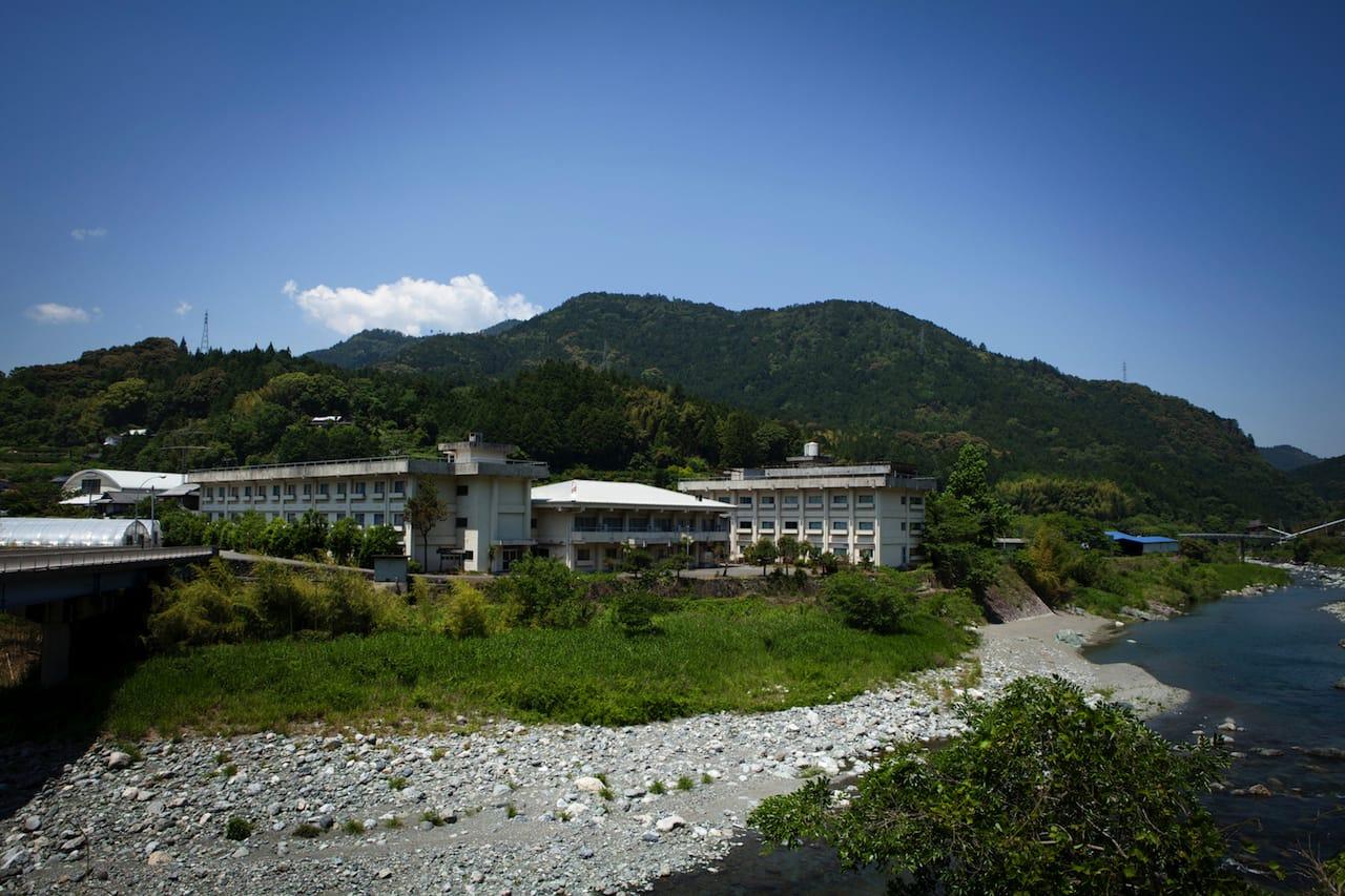 在りし日の青雲寮。1970〜2005年まで、神山中学校の生徒たちが暮らす寄宿舎だった。