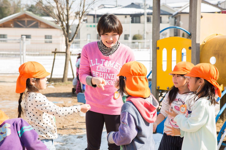 石田真紀さん。「大変なことがあっても子どもたちの笑顔を見ると、前向きになれるんです」
