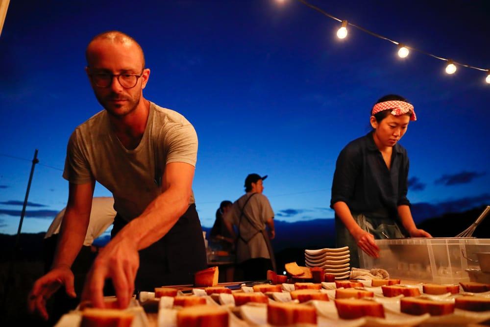 デザートの酒粕ケーキに使われたのは「神山の味2017」の酒粕!