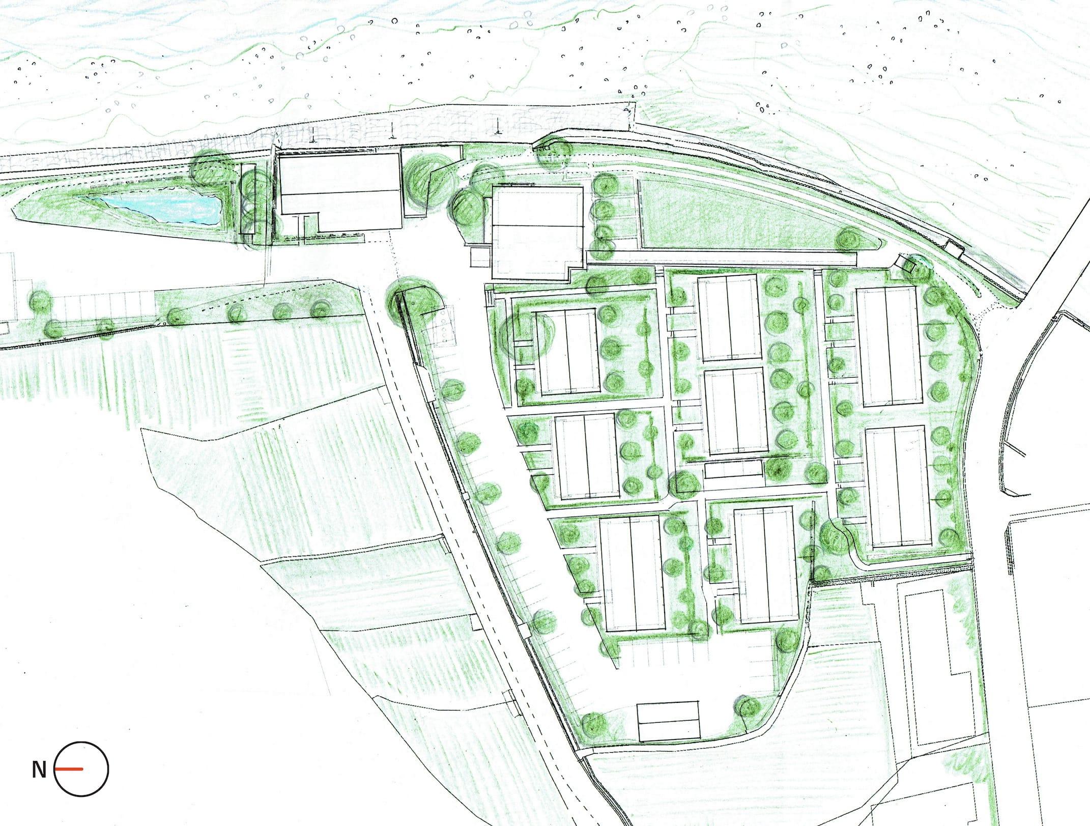 現在、計画が進められている集合住宅(2017年6月、神山つなぐ公社提供)